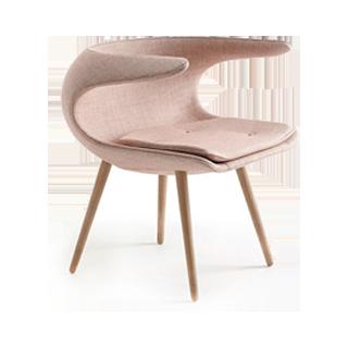时尚休闲木脚书房沙发椅